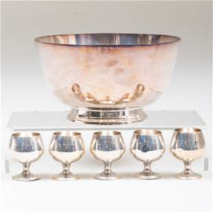 Set of Five Gorham Silver Mini Brandy Snifters and a
