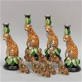 Group of Lynn Chase Porcelain Table Articles in the