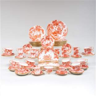 Royal Crown Derby Porcelain Dinner Service in the 'Red