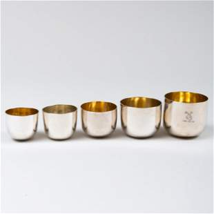 Assembled Set of Georgian Silver Nesting Cups