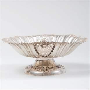 Victorian Silver Pierced Compote