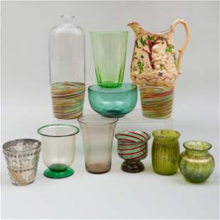Group of Glass and Porcelain Table Articles