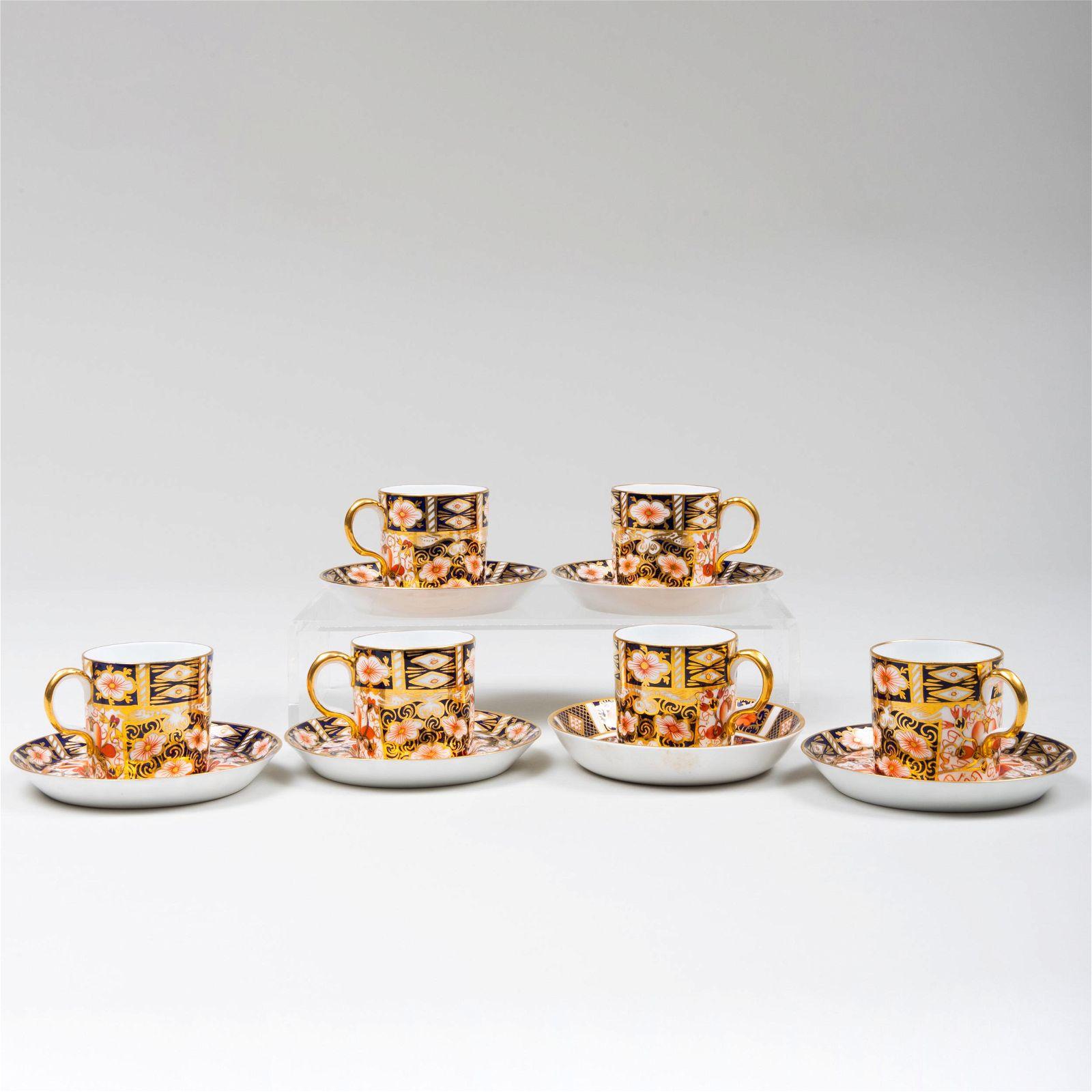 Set of Royal Crown Derby Porcelain 'Imari' Patterns
