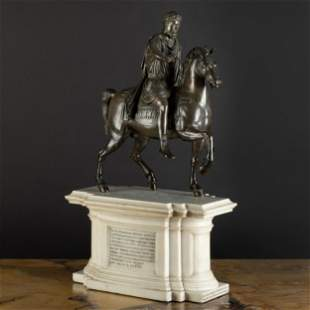 Italian Bronze Model of Marcus Aurelius on Horseback on