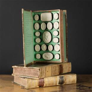 Four Volumes of Paoletti's Plaster Cameos, Rome