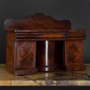Miniature Victorian Mahogany Sideboard Form Tea Caddy