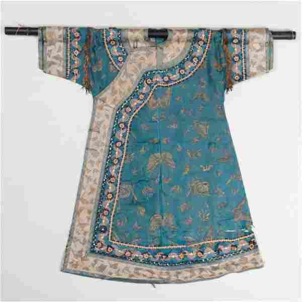 Chinese Robe with Western Embellishments