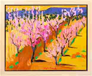 Alyce Frank (b. 1932): Spring Orchard in Bloom
