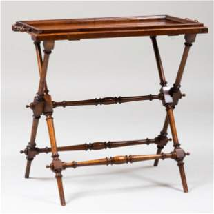 Victorian Style Mahogany Butler's Tray Table