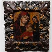 Two Russian or Greek Icons of the Virgin and Child