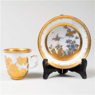 Meissen Augsburg-Decorated 'Fels de Vogel' Porcelain