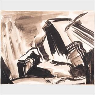 Murray Hantman (1904-1999): Monhegan Harbor;