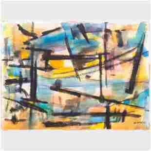 Murray Hantman (1904-1999): Abstraction; Sumi Ink; and