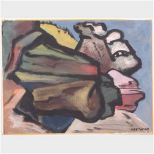 Murray Hantman (1904-1999): Rocks and Sea; Family Group;