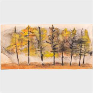 William Thon (1906-2000) : Row of Trees; and Untitled: