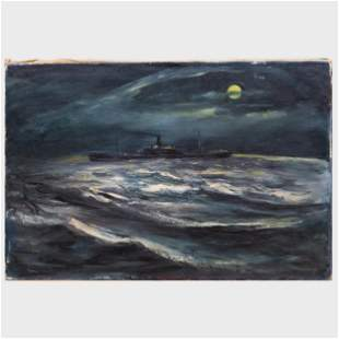 William Thon (1906-2000) : Untitled (Steamship)