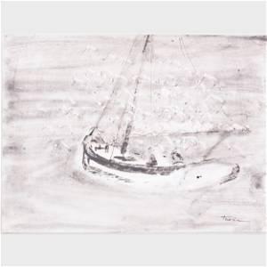 William Thon (1906-2000) : Gulls Over Boat; Lady Laura;