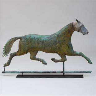 American Copper and Zinc Horse Weathervane, Attributed