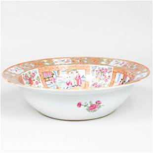 Large Chinese Export Canton Famille Rose Porcelain Bowl
