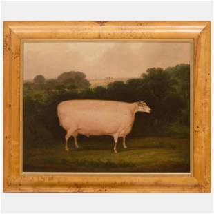 English School: Sheep: A Pair