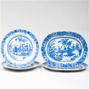 Pair of Chinese Export Blue and White Porcelain