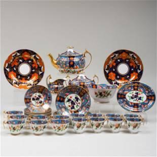 Spode Porcelain Blue Ground Part Tea Service