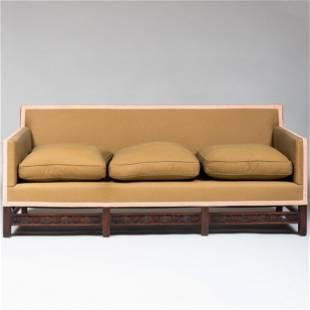 Edwardian Carved Mahogany Sofa