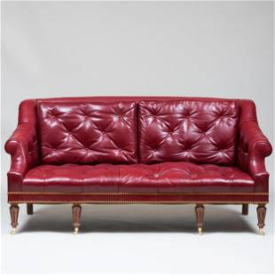 Tufted Leather Sofa, in the George III Taste