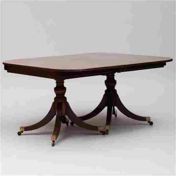Late George III Mahogany Two Pedestal Dining Table