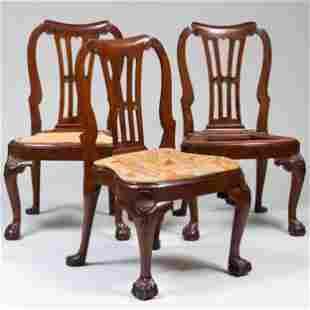 Set of Three George III Mahogany Side Chairs, Irish