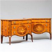Fine Pair of George III Satinwood, Sycamore and