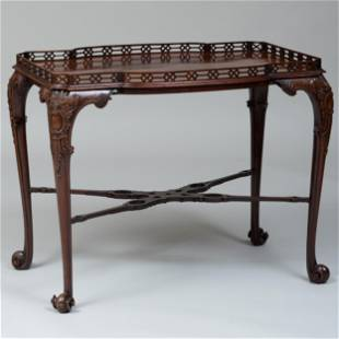 Fine George III Carved Mahogany Tea Table