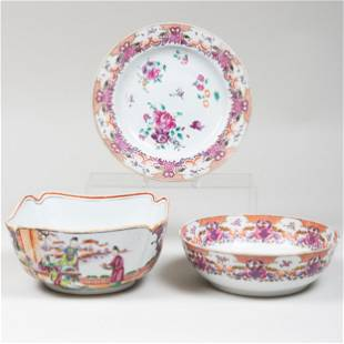Chinese Export Famille Rose Porcelain Punch Bowl,