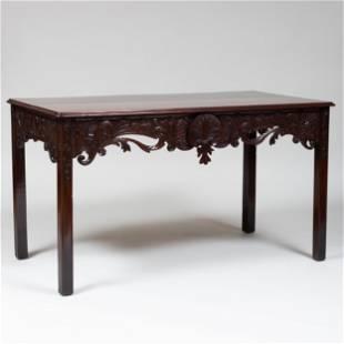 Fine George III Carved Mahogany Console Table, Irish