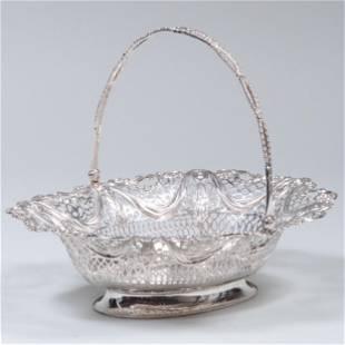 George V Silver Cake Basket