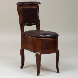 French Provincial Walnut and Leather Bidet