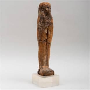 Egyptian Painted Wood Figure of Ptah-Stoker-Osiris