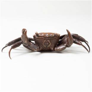 Japanese Bronze Figure of an Articulated Crab