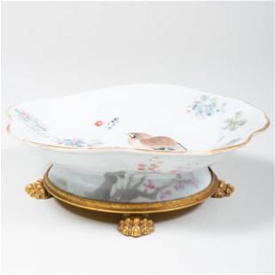 Chinese Footed Bowl Mounted to a Nicolas Haydon Ormolu