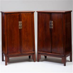 Pair of Huanghuali Cabinets