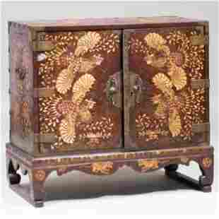 Korean Lacquered Shagreen and Mother-of-Pearl Inlaid