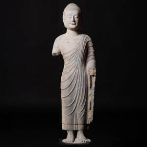 Fine and Large Chinese Limestone Figure of  Buddha