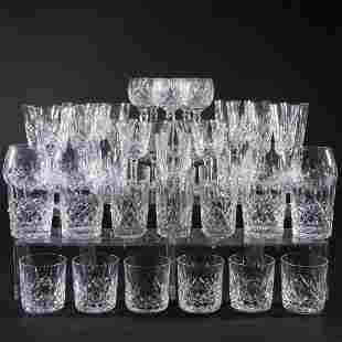 Waterford Cut Glass Part Stemware Service in the