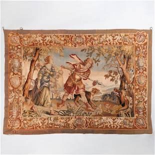 Flemish Tapestry Depicting a Boar Hunt