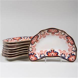 Set of Eight Royal Crown Derby Porcelain Crescent