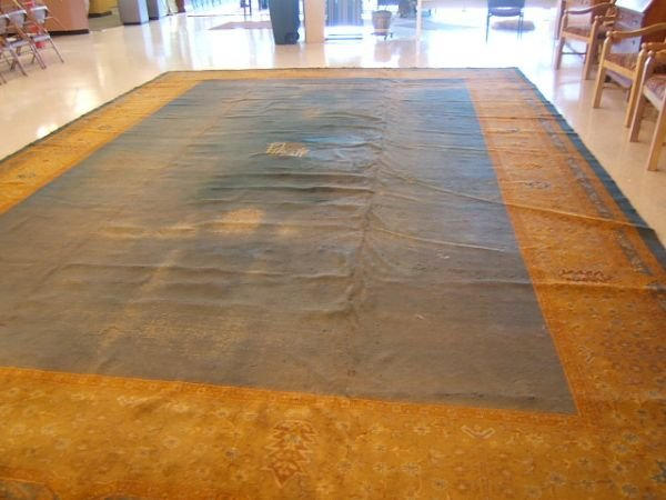 7090: MACHINE MADE RUG APPROX 14' X 21' AS/IS
