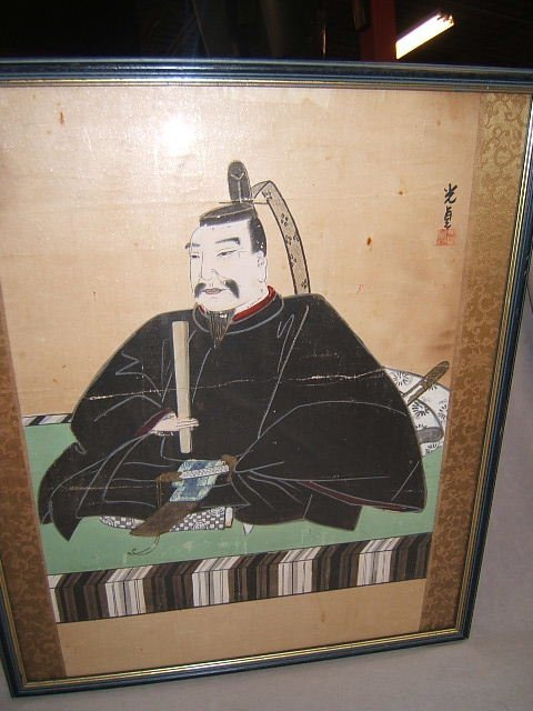 2109: FRAMED JAPANESE PAINTING