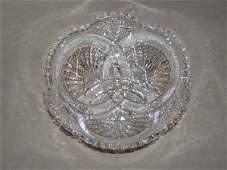 3134: CUT GLASS BOWL IN HAWKES NAUTILUS PATTERN
