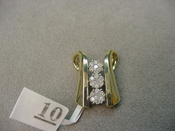 4010: 10K GOLD EMERALD HEART PENDANT