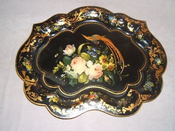 5059: HANDPAINTED TOLE TRAY